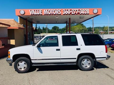 1997 Chevrolet Tahoe for sale in Belfair, WA
