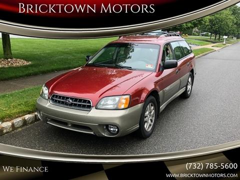 2004 Subaru Outback for sale at Bricktown Motors in Brick NJ