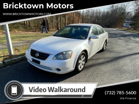 2002 Nissan Altima for sale at Bricktown Motors in Brick NJ