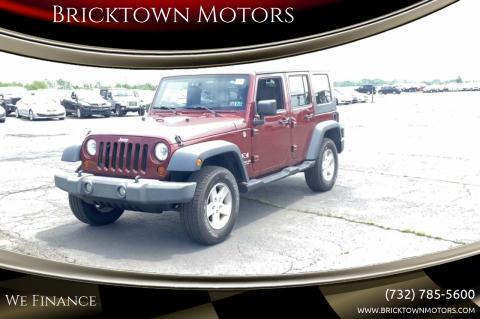 2009 Jeep Wrangler Unlimited for sale at Bricktown Motors in Brick NJ
