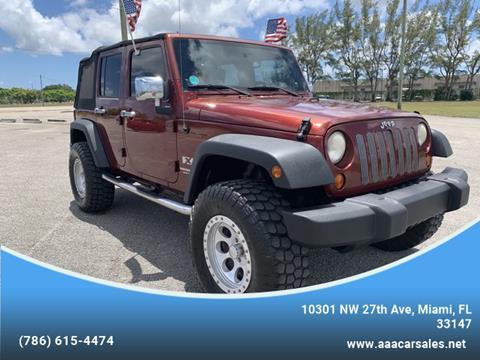 2008 Jeep Wrangler Unlimited for sale in Miami, FL