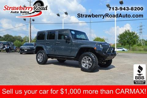 2016 Jeep Wrangler Unlimited for sale in Pasadena, TX
