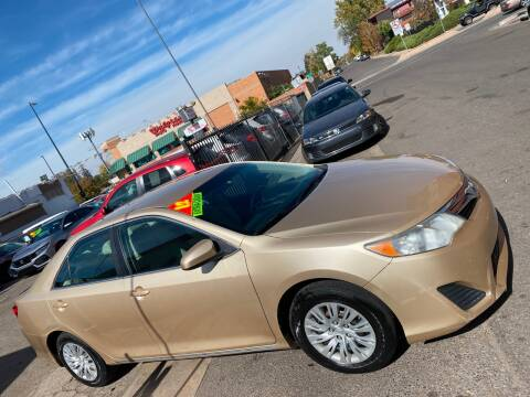 2012 Toyota Camry for sale at Sanaa Auto Sales LLC in Denver CO