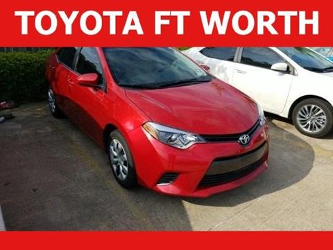 2016 Toyota Corolla for sale in Fort Worth, TX
