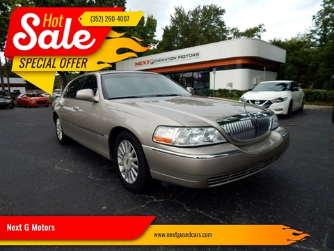 2003 Lincoln Town Car For Sale In Gainesville Fl