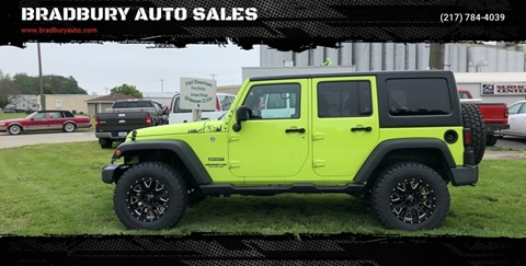 2016 Jeep Wrangler Unlimited for sale in Gibson City, IL