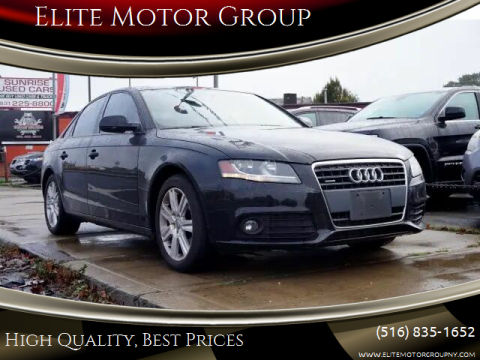 2010 Audi A4 for sale at Elite Motor Group in Farmingdale NY