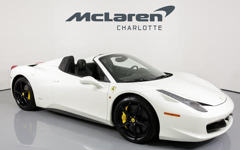 used ferrari 458 spider for sale. Black Bedroom Furniture Sets. Home Design Ideas