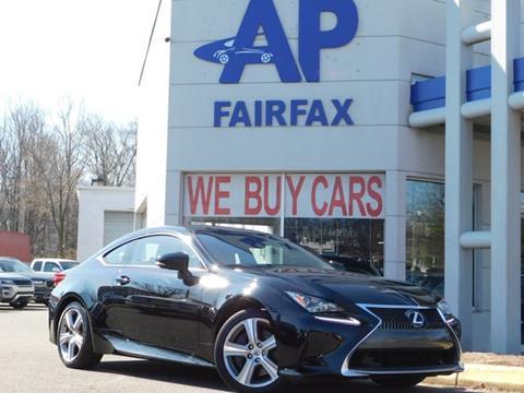 2016 Lexus RC 200t for sale at AP Fairfax in Fairfax VA