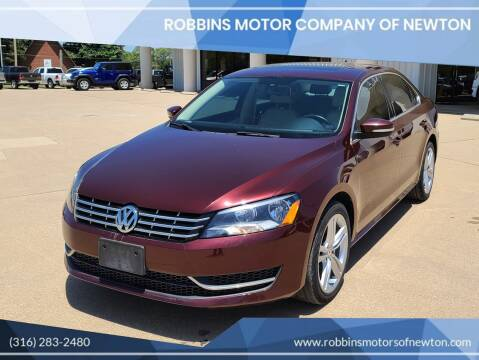 2014 Volkswagen Passat for sale at Robbins Motor Company of Newton in Newton KS