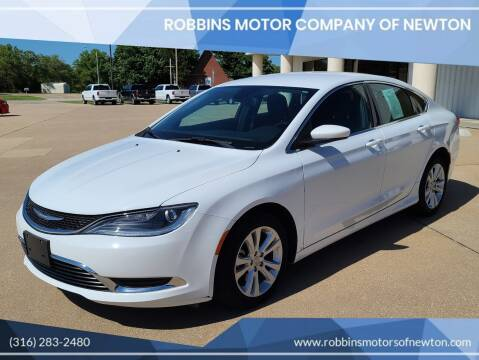 2015 Chrysler 200 for sale at Robbins Motor Company of Newton in Newton KS