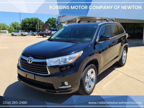 2015 Toyota Highlander for sale at Robbins Motor Company of Newton in Newton KS