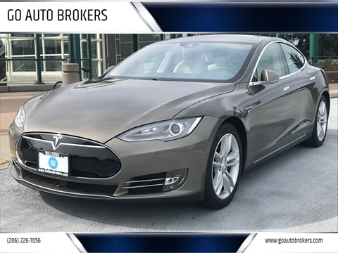 2015 Tesla Model S for sale at GO AUTO BROKERS in Bellevue WA