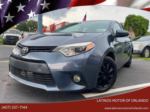 2014 Toyota Corolla for sale at LATINOS MOTOR OF ORLANDO in Orlando FL