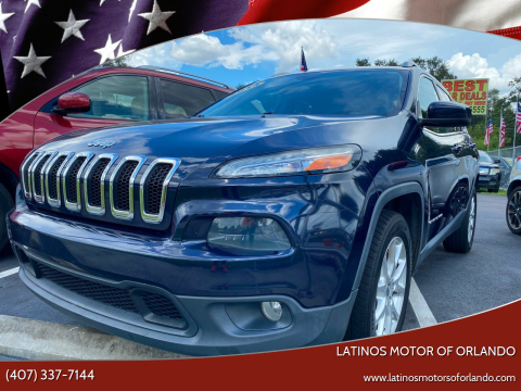 2014 Jeep Cherokee for sale at LATINOS MOTOR OF ORLANDO in Orlando FL