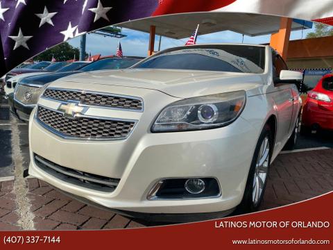 2013 Chevrolet Malibu for sale at LATINOS MOTOR OF ORLANDO in Orlando FL