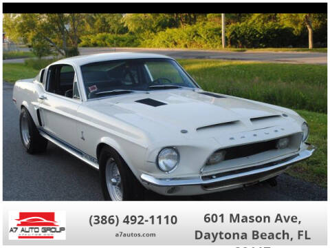 1968 Ford Shelby GT500 for sale at A7 AUTO SALES in Daytona Beach FL