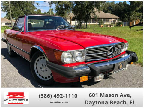 1988 Mercedes-Benz 560-Class 560 SL for sale at A7 AUTO SALES in Daytona Beach FL
