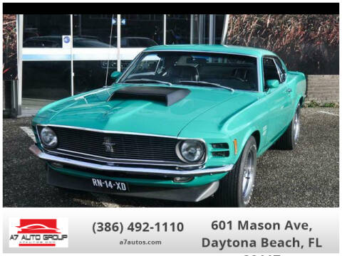 1970 Ford Mustang for sale at A7 AUTO SALES in Daytona Beach FL