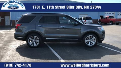 2018 Ford Explorer Limited For Sale At Welford Harris Ford In Siler City NC