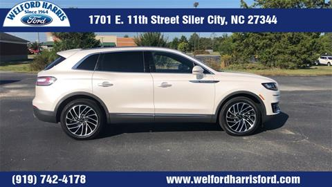 2019 Lincoln Nautilus for sale in Siler City, NC