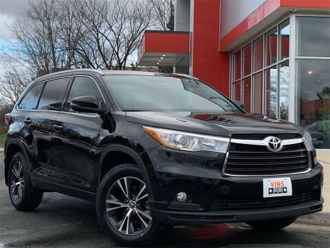 2016 Toyota Highlander XLE for sale at VINS in Manassas Park VA