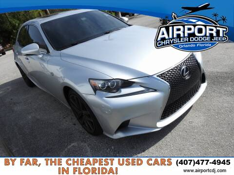2014 Lexus IS 250 for sale at AIRPORT CHRYSLER DODGE JEEP RAM in Orlando FL