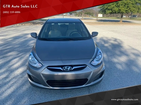 2012 Hyundai Accent GLS for sale at GTR Auto Sales LLC in Haltom City TX