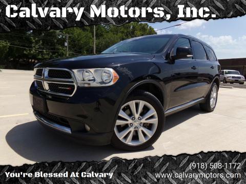 2012 Dodge Durango for sale at Calvary Motors, Inc. in Bixby OK