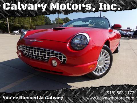 2005 Ford Thunderbird for sale at Calvary Motors, Inc. in Bixby OK
