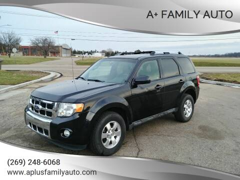 2011 Ford Escape for sale at A+ Family Auto in Marshall MI