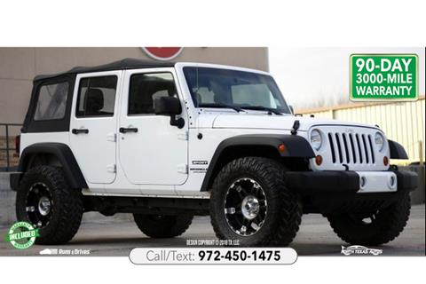 2013 Jeep Wrangler Unlimited for sale in Denton, TX