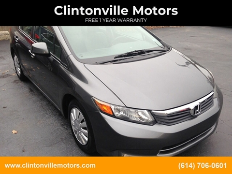 2012 Honda Civic LX for sale at Clintonville Motors in Columbus OH