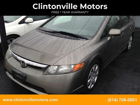 2007 Honda Civic LX for sale at Clintonville Motors in Columbus OH