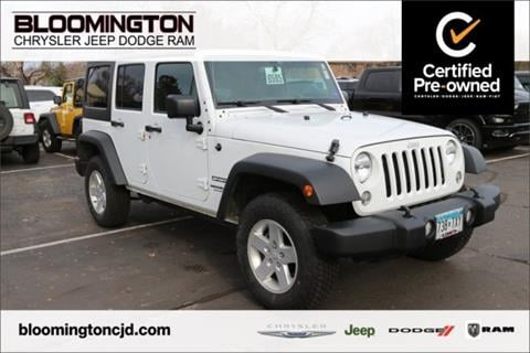 2015 Jeep Wrangler Unlimited for sale in Minneapolis, MN