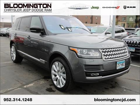 2016 Land Rover Range Rover for sale in Minneapolis, MN