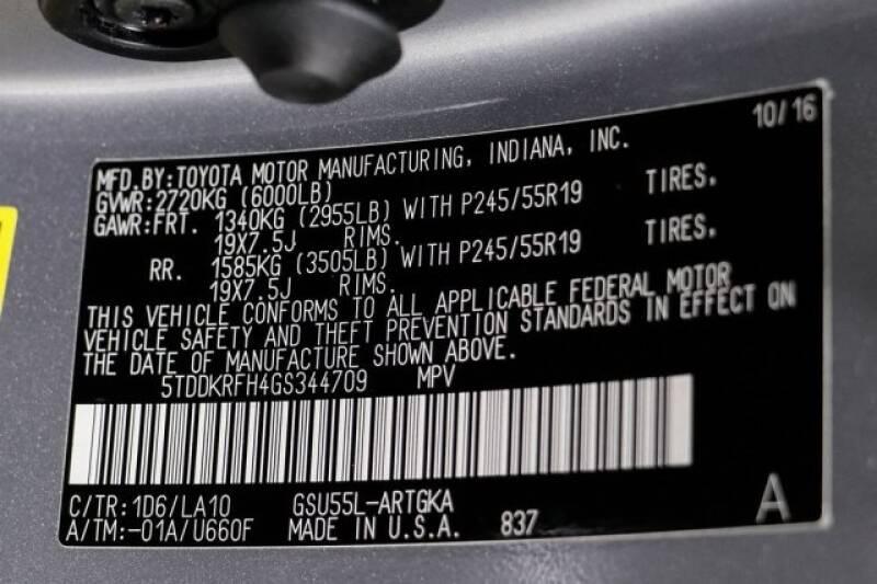 2016 Toyota Highlander Limited Platinum (image 34)