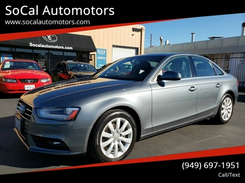 2013 Audi A4 for sale at SoCal Automotors in Costa Mesa CA