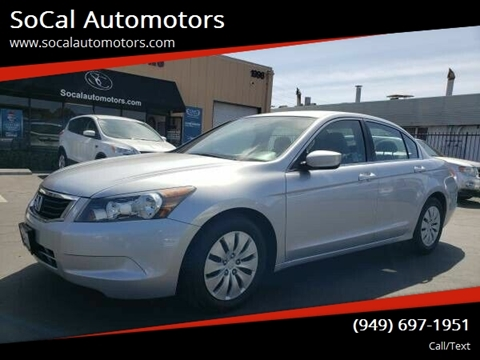 2009 Honda Accord for sale at SoCal Automotors in Costa Mesa CA