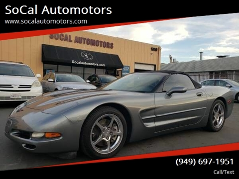 2004 Chevrolet Corvette for sale at SoCal Automotors in Costa Mesa CA