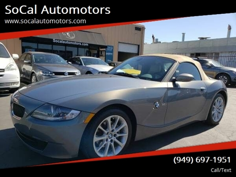 2007 BMW Z4 for sale at SoCal Automotors in Costa Mesa CA