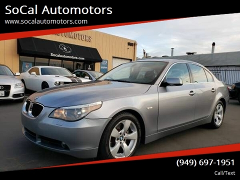 2006 BMW 5 Series for sale at SoCal Automotors in Costa Mesa CA