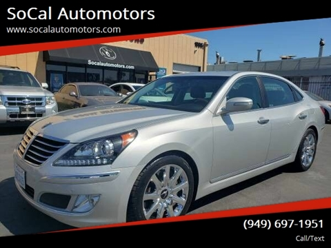 2013 Hyundai Equus for sale at SoCal Automotors in Costa Mesa CA