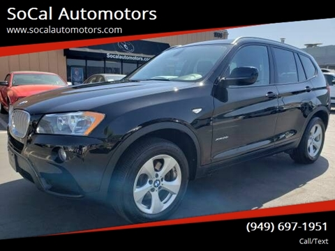2012 BMW X3 for sale at SoCal Automotors in Costa Mesa CA