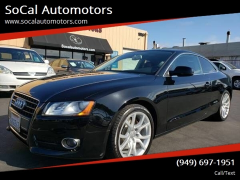2011 Audi A5 for sale at SoCal Automotors in Costa Mesa CA