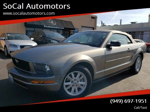 2005 Ford Mustang for sale at SoCal Automotors in Costa Mesa CA
