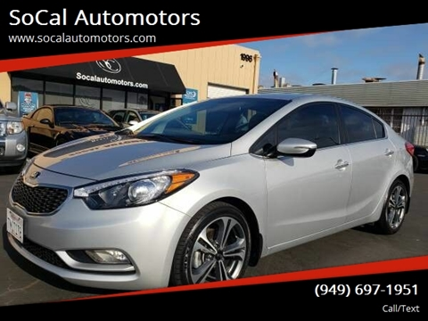 2016 Kia Forte for sale at SoCal Automotors in Costa Mesa CA