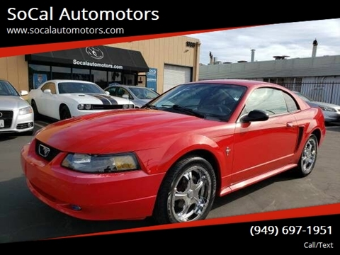 2003 Ford Mustang for sale at SoCal Automotors in Costa Mesa CA