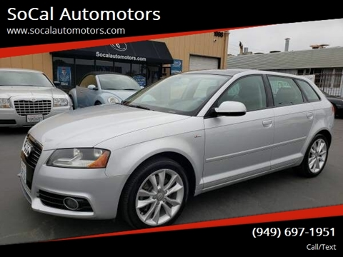2012 Audi A3 for sale at SoCal Automotors in Costa Mesa CA