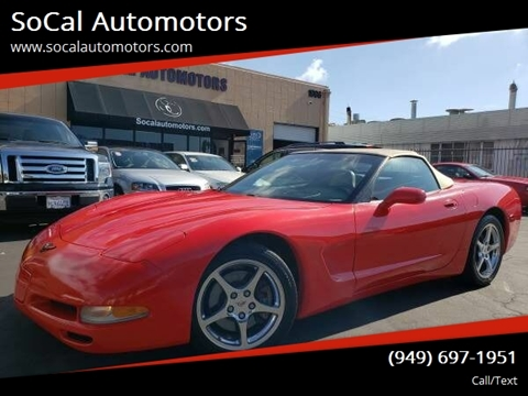 2002 Chevrolet Corvette for sale at SoCal Automotors in Costa Mesa CA